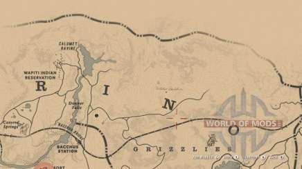 Map of the witch hut in RDR 2