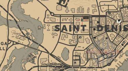 Tailor in Saint-Denis detailed map
