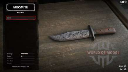 Throwing knives in RDR 2