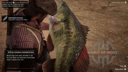 Largemouth bass in RDR 2