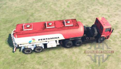 Color Pertamina for KAMAZ 6520 for Spin Tires