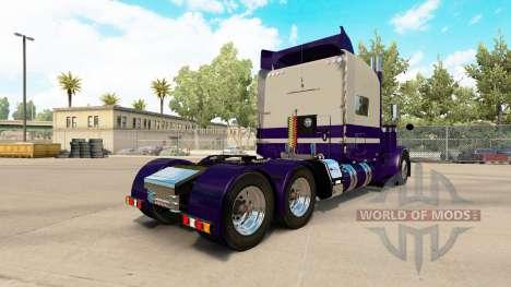 Skin Purple Run for the truck Peterbilt 389 for American Truck Simulator