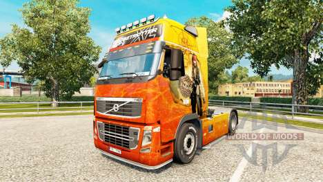 Skin Pirates of the Caribbean at Volvo trucks for Euro Truck Simulator 2