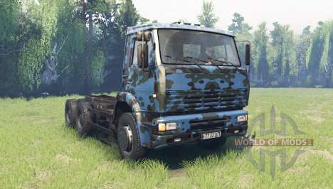 The color is Winter camo for KAMAZ 6520 for Spin Tires