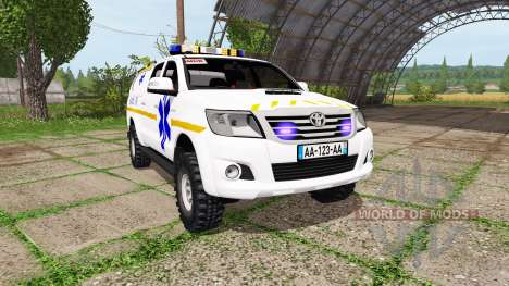 Toyota Hilux SAMU for Farming Simulator 2017
