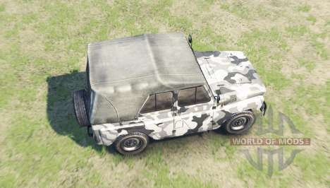 Color Winter camo UAZ 469 for Spin Tires