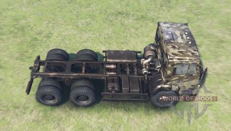 Color Desert camo for KAMAZ 6520 for Spin Tires
