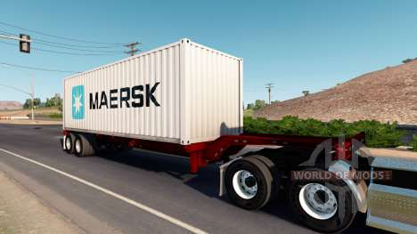 Cheetah container chassis for American Truck Simulator