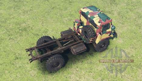The color is Summer camouflage for the GAZ 66 for Spin Tires