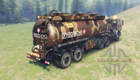 Color Desert camo on the fuel tank for Spin Tires