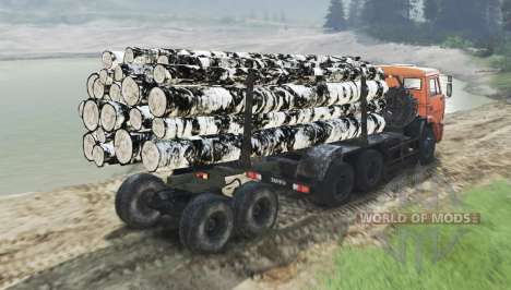 Color Birch logs for for Spin Tires