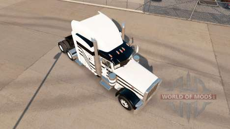 Three stripes skin for the truck Peterbilt 389 for American Truck Simulator