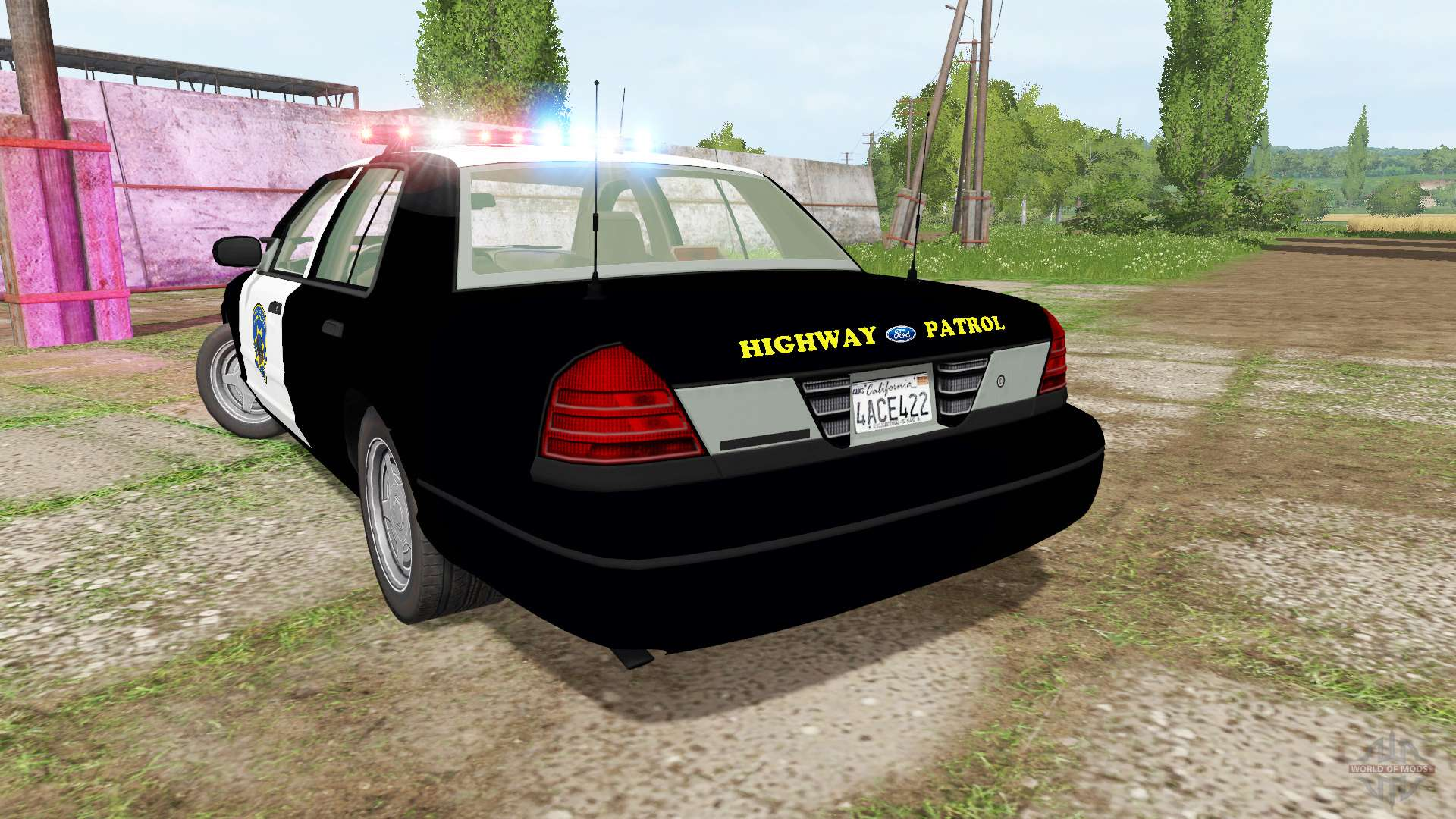 Ford Crown Victoria 2017 >> Ford Crown Victoria Highway Patrol For Farming Simulator 2017
