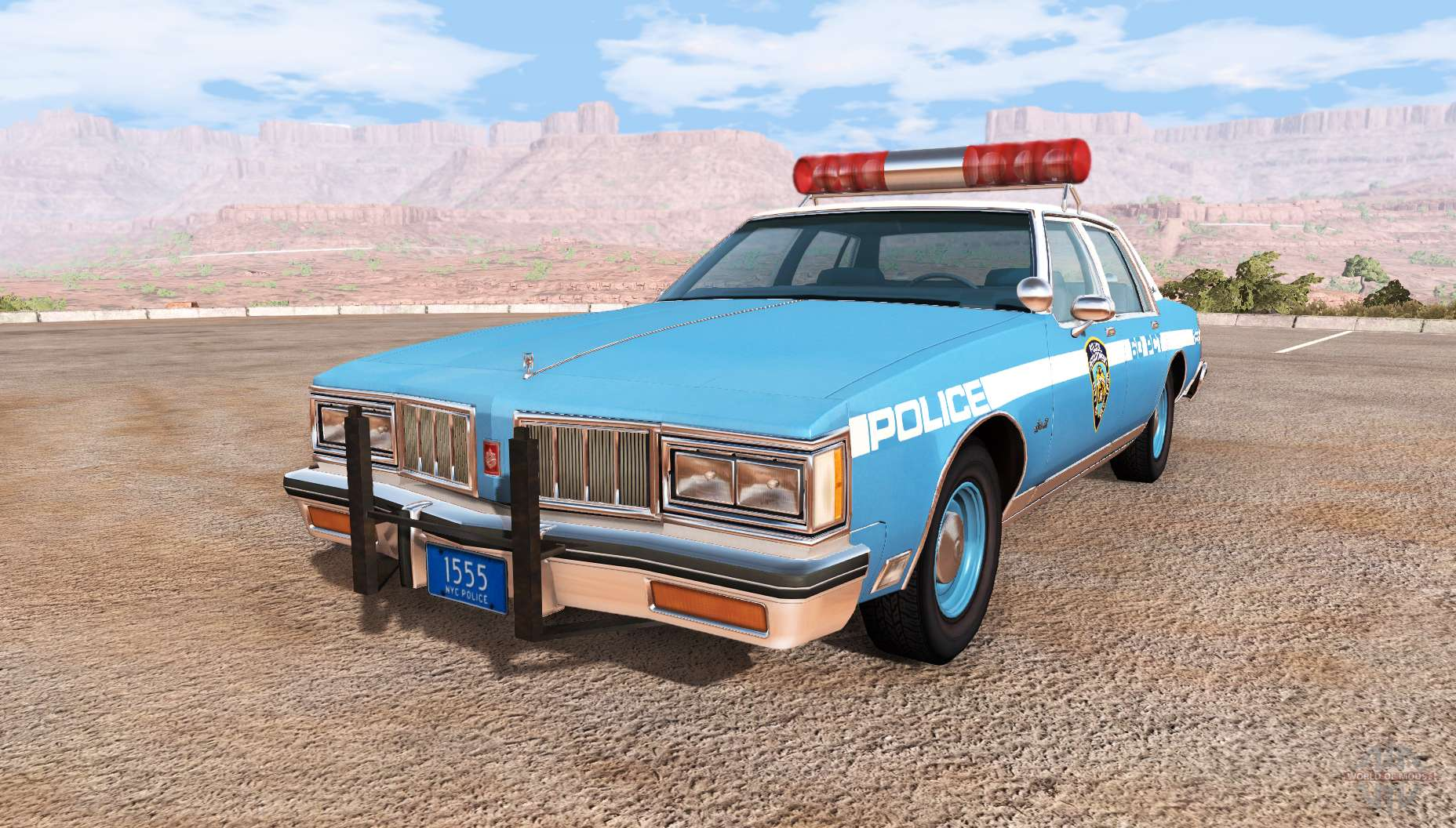 Oldsmobile Delta 88 cop pack for BeamNG Drive