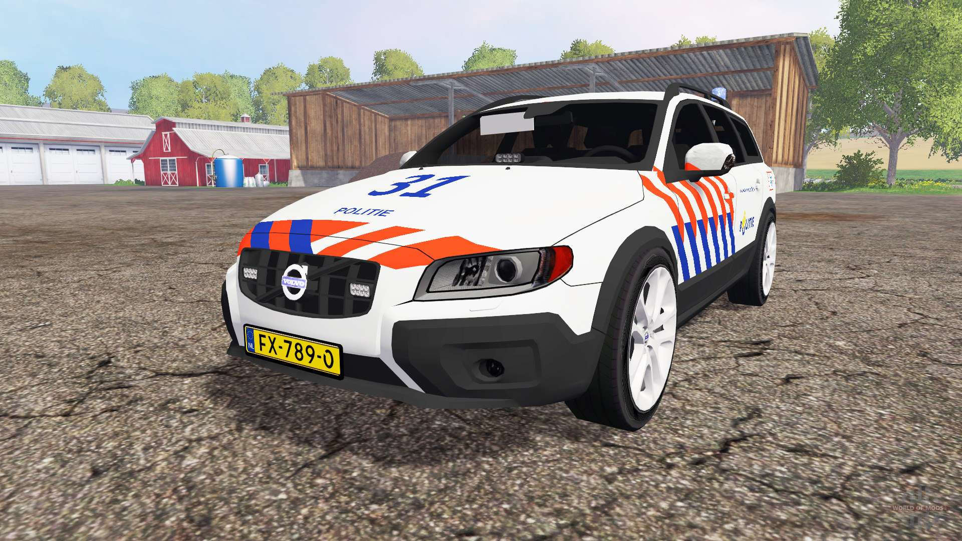 volvo xc70 d5 politie for farming simulator 2015. Black Bedroom Furniture Sets. Home Design Ideas