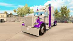 Skin Purple & Gray for the truck Peterbilt 389