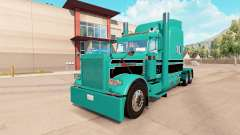 Skin Turquoise black for the truck Peterbilt 389
