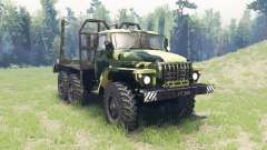 The color is Summer camouflage for Ural 4320