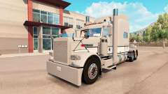 Skin Gray & White Peterbilt 389 tractor