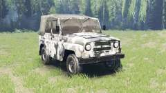 Color Winter camo UAZ 469