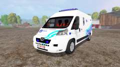 Peugeot Boxer Police v1.1 for Farming Simulator 2015