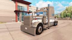 Skin Gray-White-Black on the truck Peterbilt 389