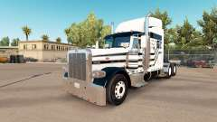 Three stripes skin for the truck Peterbilt 389
