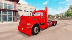 Villager red skin for the truck Peterbilt 389 for American Truck Simulator