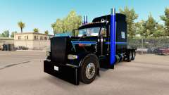 Skin Black Green Blue at the truck Peterbilt 389 for American Truck Simulator