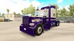 Skin Purple Run for the truck Peterbilt 389 for American Truck Simulator