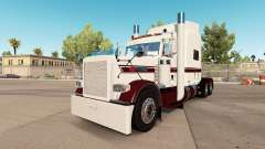 Skin White Burgund at the truck Peterbilt 389 for American Truck Simulator