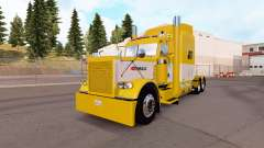 Skin Yellow and White for the truck Peterbilt 38