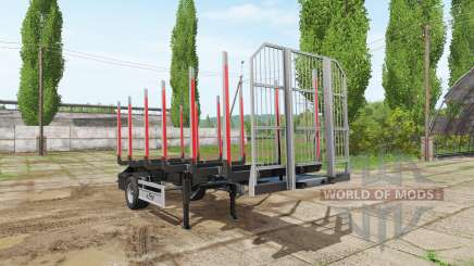 Timber trailer Fliegl for Farming Simulator 2017