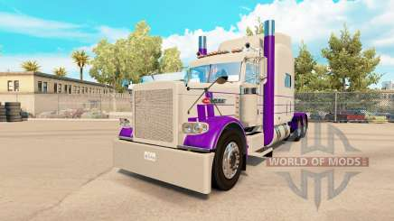Skin Purple & Gray for the truck Peterbilt 389 for American Truck Simulator