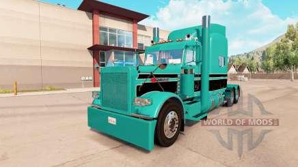 Skin Turquoise black for the truck Peterbilt 389 for American Truck Simulator