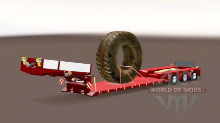 Trailer Doll Vario with big wheel for Euro Truck Simulator 2