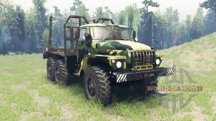 The color is Summer camouflage for Ural 4320 for Spin Tires