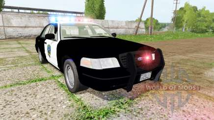 Ford Crown Victoria highway patrol for Farming Simulator 2017