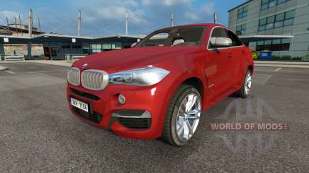 BMW X6 M50d (F16) v3.0 for Euro Truck Simulator 2