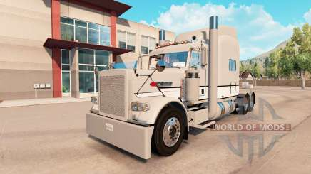Skin Gray & White Peterbilt 389 tractor for American Truck Simulator