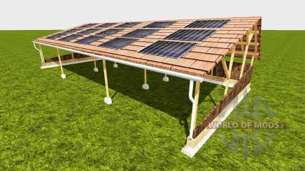 Shelter with solar for Farming Simulator 2015