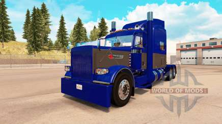 Skin Blue and Gray for the truck Peterbilt 389 for American Truck Simulator