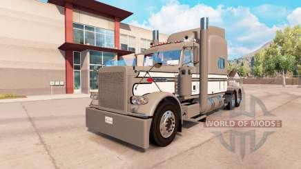 Skin Gray-White-Black on the truck Peterbilt 389 for American Truck Simulator