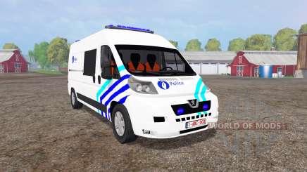 Peugeot Boxer Police vitre v1.1 for Farming Simulator 2015