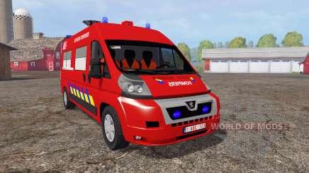 Peugeot Boxer sapeurs-pompiers for Farming Simulator 2015