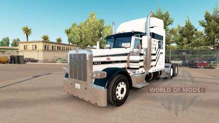 Three stripes skin for the truck Peterbilt 389 for American Truck Simulator