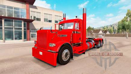 Villager red skin for the truck Peterbilt 389 for American Truck Simulator