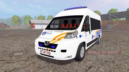 Peugeot Boxer Police vitre for Farming Simulator 2015