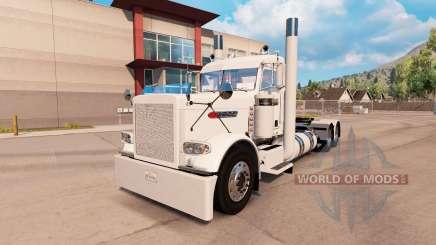 Villager white skin for the truck Peterbilt 389 for American Truck Simulator