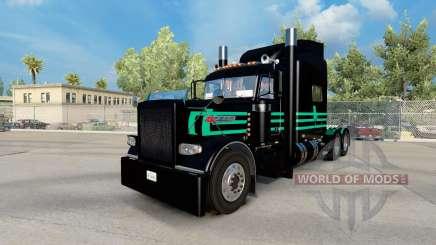 Скин Mint Green & Black на Peterbilt 389 for American Truck Simulator